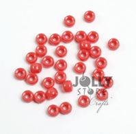 7x4mm Opaque Coral Pink Mini Pony Beads beads,beading,mini.small,pony beads,USA,American, made