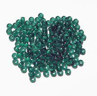 7x4mm Transparent Emerald Mini Pony Beads beads,beading,mini.small,pony beads,USA,American, made