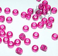 7x4mm Transparent Fuchsia Mini Pony Beads beads,beading,mini.small,pony beads,USA,American, made