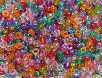 7x4mm Transparent Multi Colors Mini Pony Beads beads,beading,mini.small,pony beads,USA,American, made