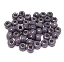 9mm Opaque Purple India Glass Crow Beads 100pc india,indian,crow,pony,roller,beads