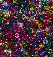9x6mm Assorted Metallic Plated Pony Beads 370pc kids,beads,crafts,pony beads