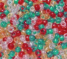 9x6mm Christmas Sparkle Mix Pony Beads 500pc kids,beads,crafts,pony beads