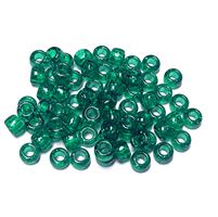 9x6mm Emerald Sparkle Pony Beads 500pc kids,beads,crafts,pony beads