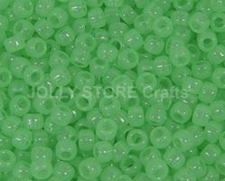 9x6mm Green Glow Pony Beads 500pc kids,beads,crafts,pony beads