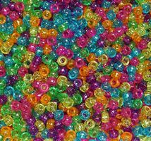 9x6mm Jelly Sparkle Pony Beads 500pc kids,beads,crafts,pony beads