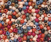 9x6mm Matte Americana Mix Pony Beads kids,beads,crafts,pony beads