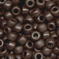 9mm Matte Brown Pony Beads