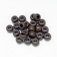 9x6mm Matte Brown Chocolate Pony Beads kids,beads,crafts,pony beads