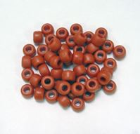9x6mm Matte Cinnabar Pony Beads 500pc kids,beads,crafts,pony beads