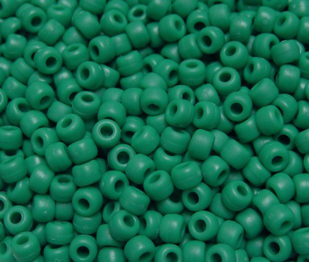 ALL AMOUNTS Light Green OPAQUE Pony Beads 9x6mm