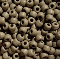 9x6mm Matte Khaki Pony Beads 500pc kids,beads,crafts,pony beads