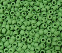 9x6mm Matte Pea Green Pony Beads kids,beads,crafts,pony beads