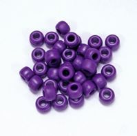9x6mm Matte Plum Pony Beads kids,beads,crafts,pony beads