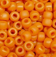 9x6mm Matte Pumpkin orange Pony Beads