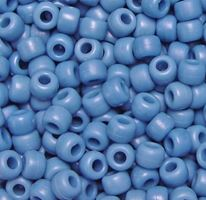 9x6mm Matte Denim Pony Beads 500pc kids,beads,crafts,pony beads