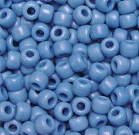 9x6mm Matte Denim Blue Pony Beads 500pc