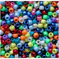 9x6mm Multi Colors Pearl Pony Beads 500pc kids,beads,crafts,pony beads