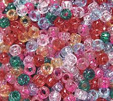 9x6mm Multi Sparkle Pony Beads 500pc kids,beads,crafts,pony beads