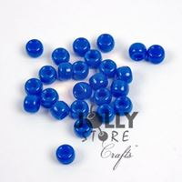 9x6mm Neon Electric Blue Pony Beads 500pc kids,beads,crafts,pony beads