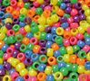 9x6mm Neon Multi Color Pony Beads 500pc