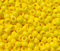 9x6mm Opaque Bright Yellow Pony Beads 500pc kids,beads,crafts,pony beads