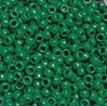 9x6mm Opaque Green Pony Beads 500pc