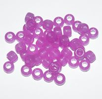 9x6mm Purple Glow Pony Beads 500pc kids,beads,crafts,pony beads