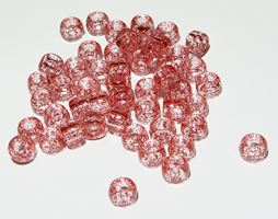 9x6mm Red Glitter Pony Beads 500pc kids,beads,crafts,pony beads