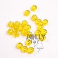 9x6mm Transparent Acid Yellow Pony Beads 500pc kids,beads,crafts,pony,hair,beads