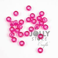 9x6mm Transparent Hot Pink Pony Beads 500pc kids,beads,crafts,pony beads
