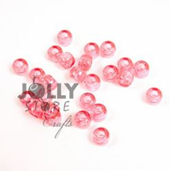 9x6mm Transparent Pink Pony Beads 500pc kids,beads,crafts,pony beads