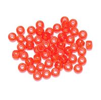9x6mm Transparent Tangerine Pony Beads 500pc kids,beads,crafts,pony beads