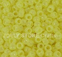 9x6mm Yellow Glow Pony Beads 500pc kids,beads,crafts,pony beads