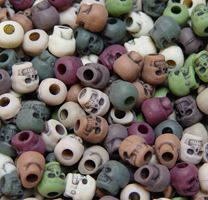 Antiqued Camo Mix Skull Beads skull,beads,crafts