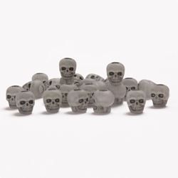 Antiqued Glow Skull Beads skulls,beads,crafts,head
