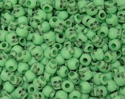 Antiqued Lime Skull Beads skulls,beads,crafts,head