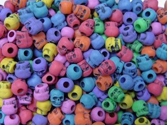Antiqued Multi Colors Skull Beads skulls,beads,crafts,head