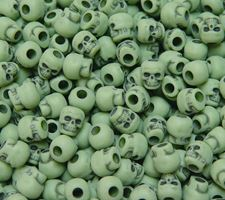 Antiqued Olive Green Skull Beads skull,beads,crafts