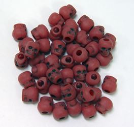 Antiqued Red Skull Beads skulls,beads,crafts,head