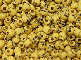Antiqued Yellow Skull Beads skulls,beads,crafts,head