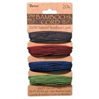 Bamboo Cord Set - Jewel Tones 20lb  120ft bamboo,cord,twine,strings,crafts,beading