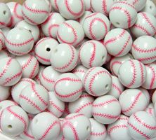Baseball Beads 20mm baseball,beads,sports,jewelry