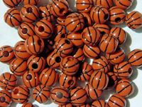 Basketball Beads 12mm basketball,beads,sports,jewelry