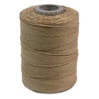 Beige waxed poly cord 116yd poly,cord