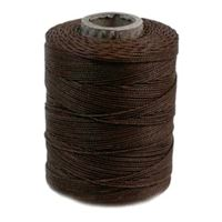 Brown waxed poly cord 116yd poly,cord