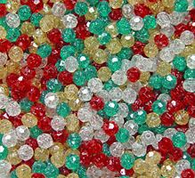 Christmas Sparkle Mix 8mm Faceted Round Beads facted,beads,crafts,plastic,acrylic,round,colors,beading,stores