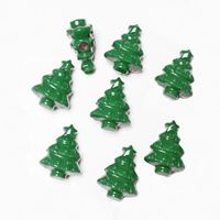 Christmas Tree Beads Opaque Green