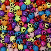 Colorful Skull Beads skull,beads,crafts,halloween