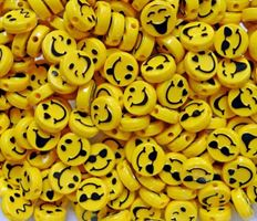 Expressions Face 13mm Beads, 50pc expressions,face,emoji,beads